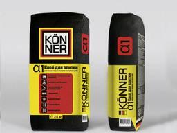 Клей для керамической плитки Кенер Alfa универсальный 25 кг