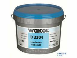 Клей для натурального линолеума Wakol D3304 14кг (Германия)