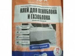 Клей для пеноблока и газоблока Недра 25 кг