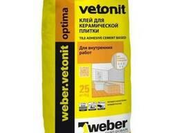 Клей для плитки и мозаики Weber Vetonit Optima, 25 кг.