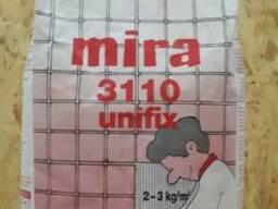 Клей для плитки mira 3110 unifix белый для мозаики, мрамора