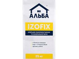 """Клей для ППС та мінвати Альба """"Izofix"""" 25 кг"""