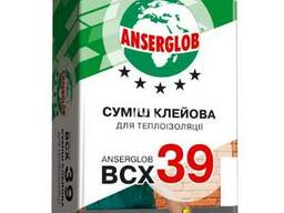 """Клей для приклеивания теплоизоляции """"ВСХ-39"""" """"Anserglob"""" 25 кг"""