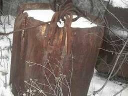 Клин-баба бетонная круглая, фото реальное на экскаватор Драг