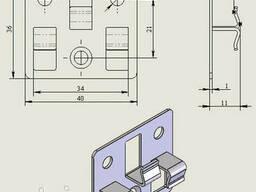 Клипса для террасных и фасадных систем Strimex