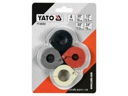 """Кліпси для з'єднаннь систем кондиціонування YATO : 3/8"""", 1/2"""", 5/8"""", 3/4"""", 4 шт"""