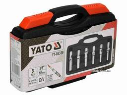 """Ключі торцеві для свічок накалу на шарнірі YATO 3/8"""" 8-16 мм 6 шт + кейс"""