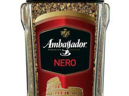 Амбассадор Кофе растворимый Nero 95 грамм в стеклянной банке
