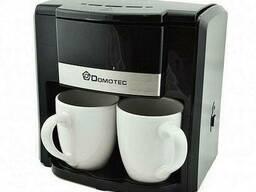 Кофеварка Domotec Ms-0708 с двумя чашками, 500Вт