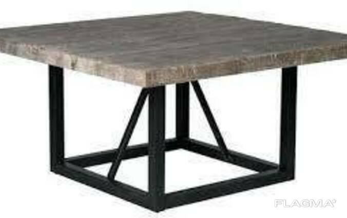Кофейный Журнальный столик в стиле LOFT (Table - 458)