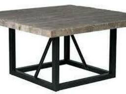 Кофейный Журнальный столик в стиле LOFT (Table - 458) - photo 1