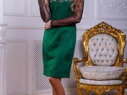 Коктельное замшевое платье 44-50 , доставка по Украине