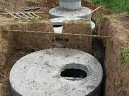 Кольца бетонные 1м, 1.5м, 2м, крышки и днища к ним