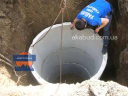 Кольца бетонные для колодцев, канализации, выгребной ямы, ЖБ