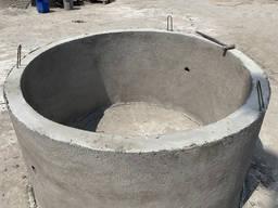 Кольца бетонные для колодцев, канализации, выгребной ямы, ЖБ - фото 3