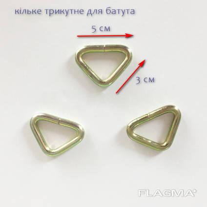 Кольца треугольные для батута, зацепи для пружин батута