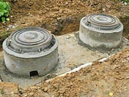 Сливная яма с бетонных колец