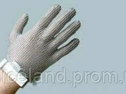 Кольчужна рукавичка 5-пала з поліуретановим ремінцем.