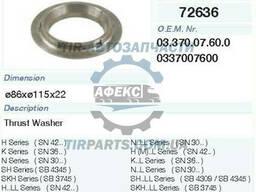 Кольцо упорное BPW-ECO(6. 5-9Т) 86/115/139x22 (337007600  . ..