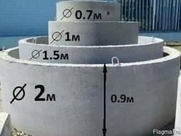 Кольцо железобетонное 0,7м. Н 300 мм.