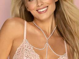 Кольє модний аксесуар до погруддя з білих намистин Obsessive A757, Перламутровий, One-Size