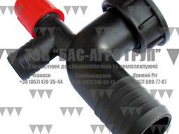 Колено фильтра спускное с краном d-40 (222190) Agroplast