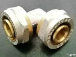 Колено (уголок) для металлопластиковой трубы 20х20мм