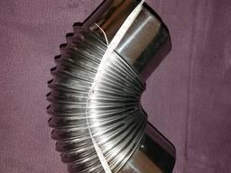 Колено воздуховода, нержавеющая сталь