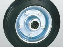 Колеса из черной резины с роликовым подшипником 10-200х50-R