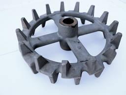 Колесо катка шпоровое КП-6 D=520мм, d=56мм Колесо кольчато-шпоровое Колесо ККШ
