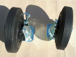 Колесо поворотне 200 мм. на платформі для контейнерів