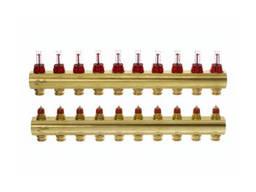 Коллектор Danfoss FHF 10 выходов с расходомером 088U0530