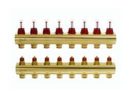 Коллектор с расходомерами Danfoss FHF на 8 выходов (088U0528)