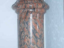 Монтаж колонн из гранита