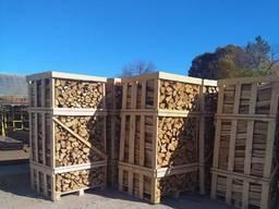 Колотые дрова в ящиках с доставкой. НДС. В наличии