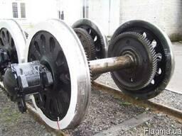 Колёсные пары тепловозов электровозов оси цельнокат