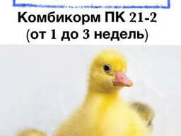 Комбикорм для гусей и уток ПК 21-2 (возраст от 1 до 3 недель