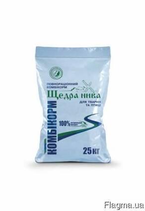 Комбикорм ТМ Щедра Нива Бройлер рост финиш Николаев и обл