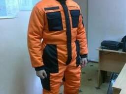 Рабочая одежда, комбинезон рабочий утепленный, с карманами