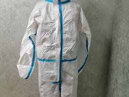 Комбинезон защитный ламинированный с проклеными швами материал PP microPE