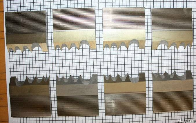 Комбинированный комплект ножей для строганого бруса