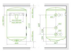 Комбинированный водонагреватель Tesy Bilight 150 л, мокрый ТЭН 2,0 кВт. ..