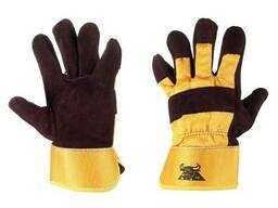 Перчатки рабочие, спилковые, защитный манжет в наличии!