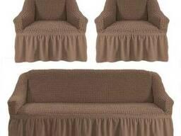Комлект чехол на диван и два кресла