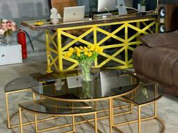 Комлпект журнальных столов для loft интерьера