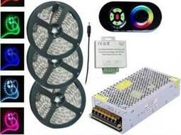Комплект 3. RGB LED лента SMD5050/30 15м c сенсорным пультом