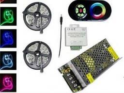 Комплект 5. RGB LED лента SMD5050/30 10м c сенсорным пультом