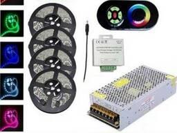 Комплект 7. RGB LED лента SMD5050/30 20м c сенсорным пультом