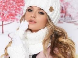 Комплект «Агнес» (шапка, хомут и перчатки) 4633-37
