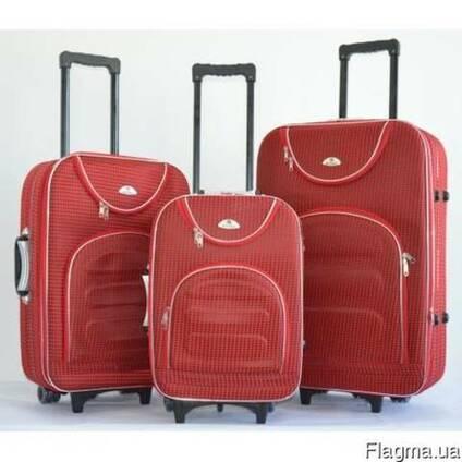 Комплект чемоданов сумка дорожный Bonro набор 3 штуки цвет к